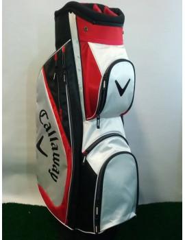 golfový cart bag Callaway X series červenobílý