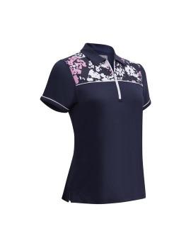 Dámské triko Callaway Floral Shoulder Print Camo Peacoat