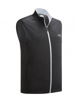 pánská golfová vesta Callaway High Cauge Full Zip Fleece Vest Caviar