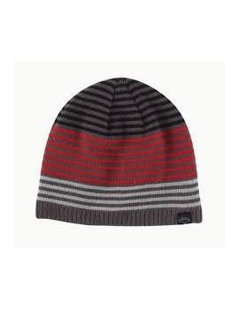 zimní čepice Callaway pruhovaná červená