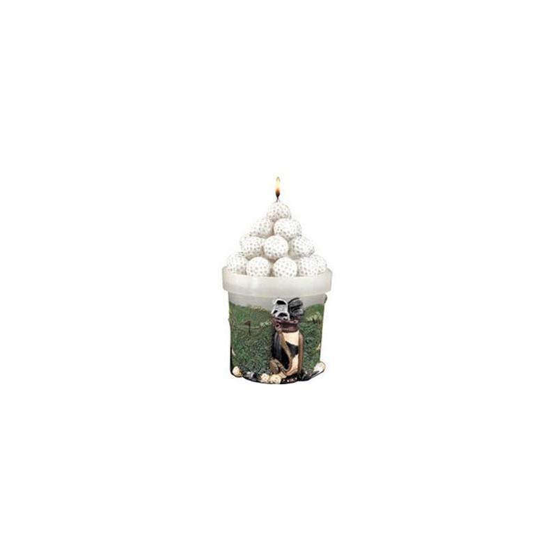 Golg Gifts svíčka - motiv košík golfových míčků