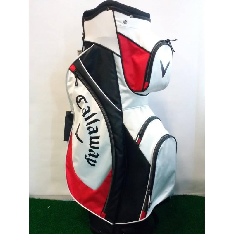 golfový cart bag Callaway X series bíločervený