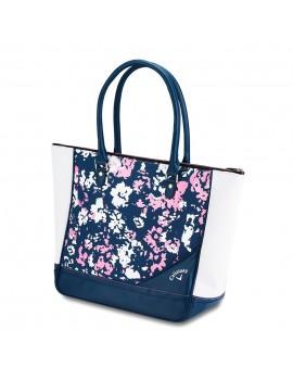 Dámská golfová kabelka s květinovým potiskem