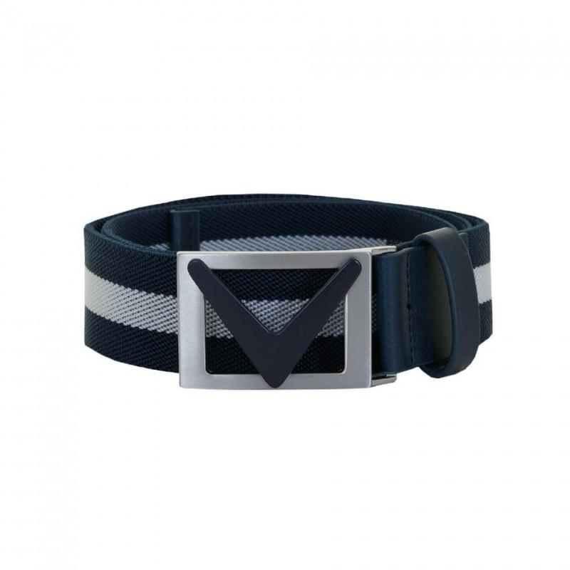 Pánský opasek Callaway Chev Striped belt Dress Blue