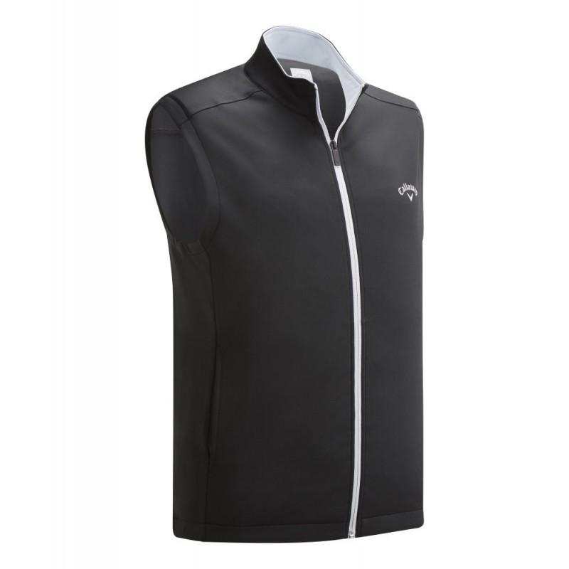 pánská golfová vesta Callaway High Cauge Full Zip Fleece Vest Caviar